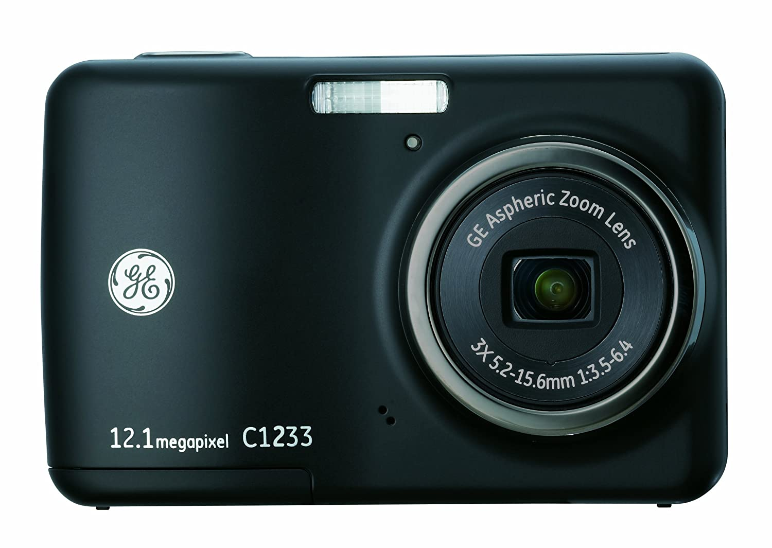 Amazon.com : GE C1233 12MP Digital Camera with 3X Optical Zoom and 2.4 Inch  LCD with Auto Brightness (Black) : Point And Shoot Digital Cameras : Camera  & ...