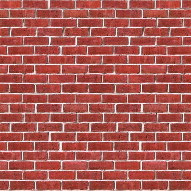 Pkg//3 Beistle 112-20208-3 Brick Wall Backdrop 4ft x 30ft