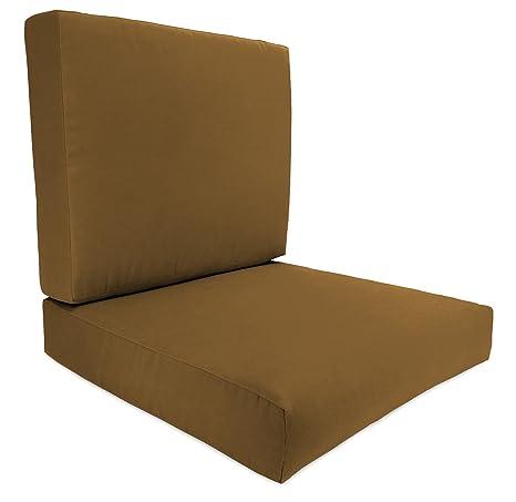 Jordan Manufacturing 8114PK1 310H Boxed Chair Cushion, Acrylic Teak Canvas