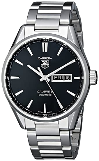 TAG Heuer WAR201A.BA0723 - Reloj para Hombres, Correa de Acero Inoxidable Color Plateado: Amazon.es: Relojes