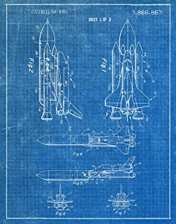 Amazon steves poster store space shuttle 1975 patent art 18x24 space shuttle 1975 blueprint patent art print malvernweather Image collections