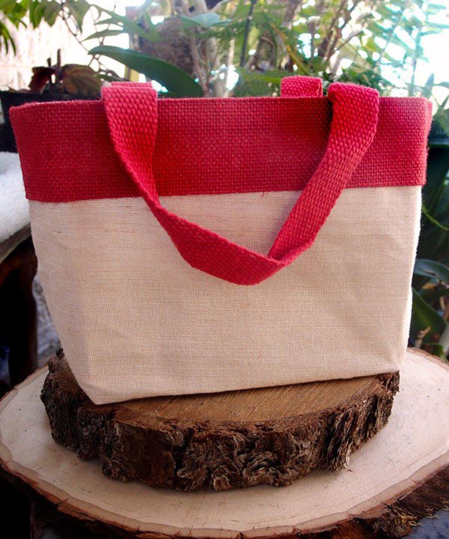 人気 ファンシージュート&コットンブレンド再利用可能なトートバッグ bagzdepot by、毎日頑丈な黄麻布Totes by bagzdepot レッド レッド B06ZZ7G6YK レッド, イズミザキムラ:1af03336 --- 4x4.lt