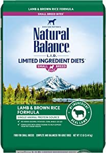Natural Balance L.I.D. Limited Ingredient Diets Small Breed Bites Dry Dog Food with Grains