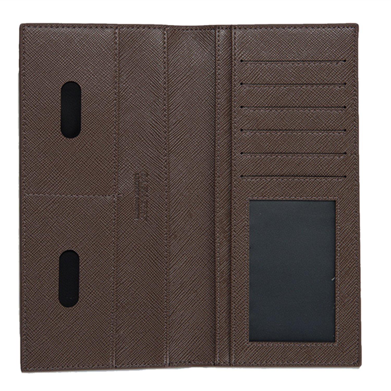 BYD Monedero Cartera de Embrague Hombre Leather Delgado súper blando Monedero y estilo lujoso tarjetas multi del organizador, café, onesize: Amazon.es: ...