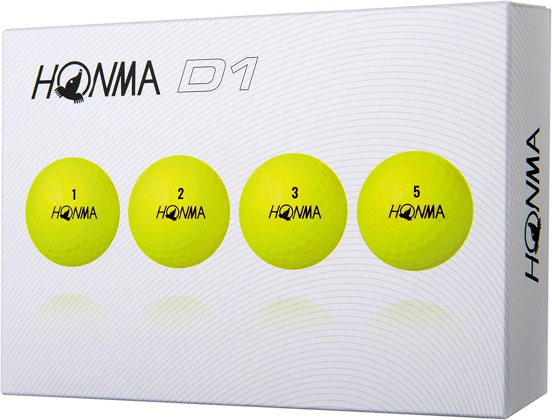 Honma D1 Golf Balls 1-Dozen Yellow