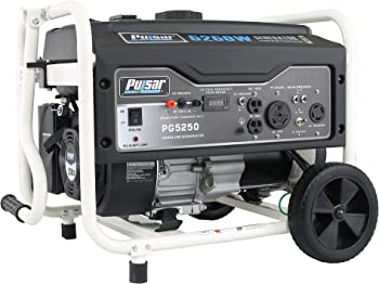 Pulsar 5,250 Peak Watt Gas-Powered Portable Generator w/ Mobility Kit