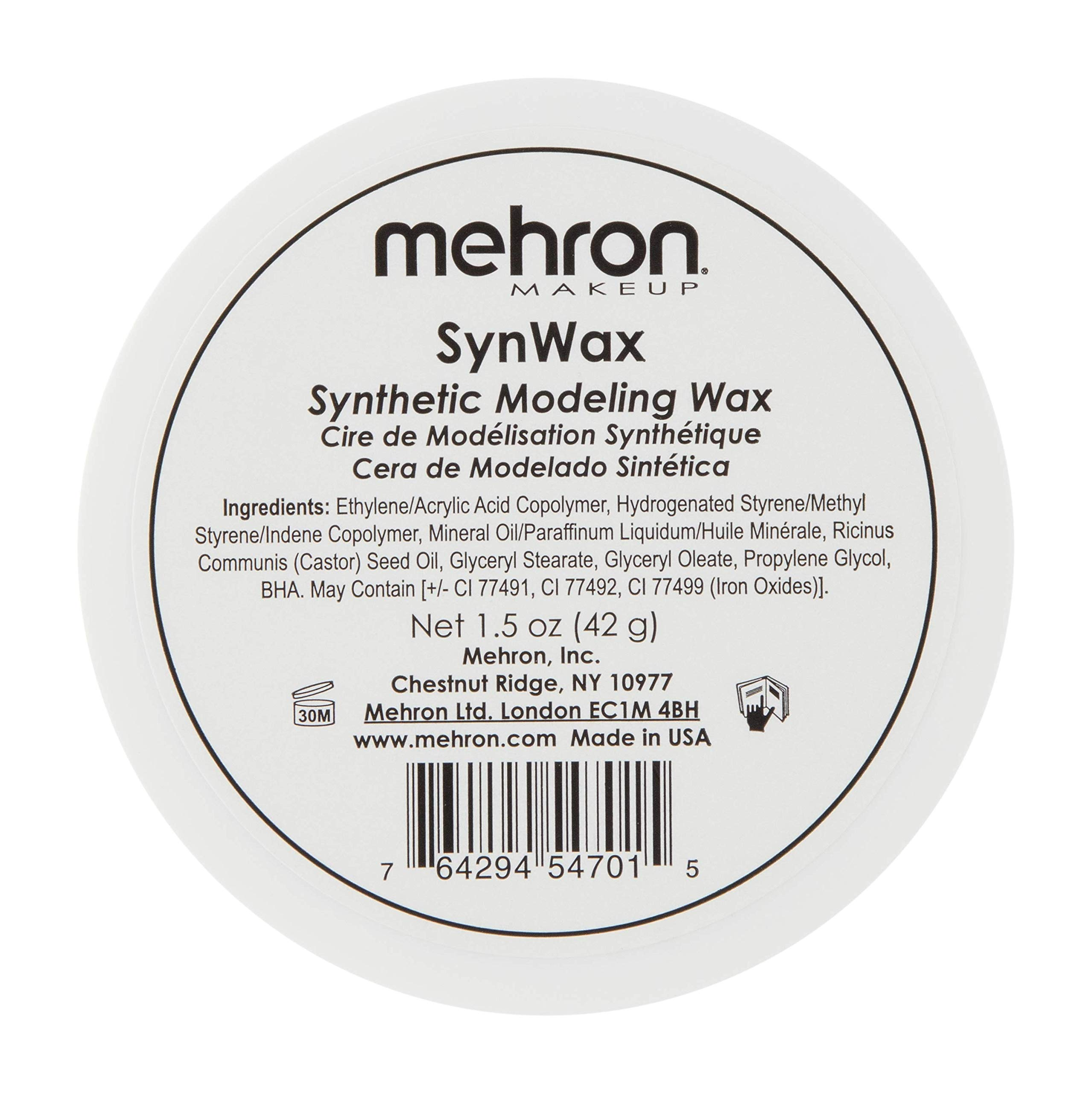Mehron Makeup SynWax Synthetic Modeling Wax (1.5 oz)