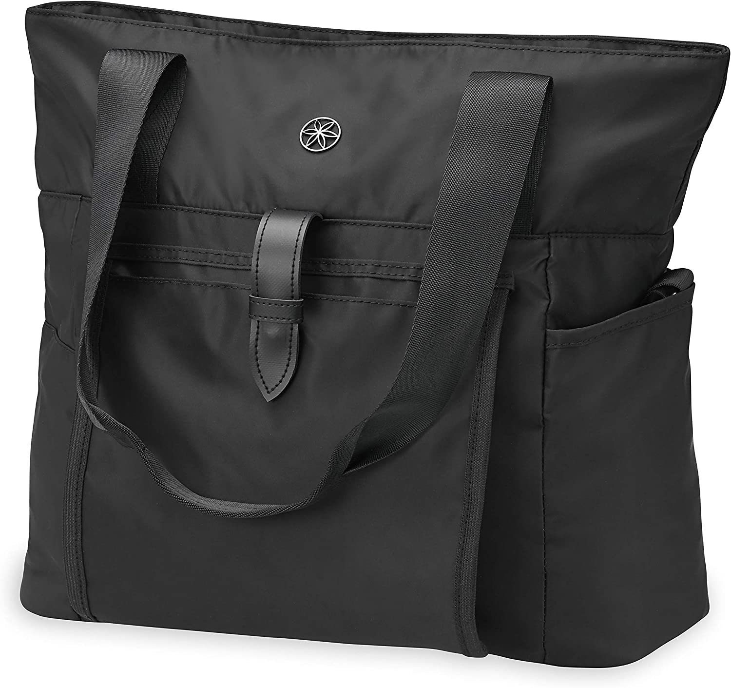 Gaiam Everyday Yoga Mat Bag Tote with Yoga Mat Carrier Sleeve (Fits Most Size Mats)