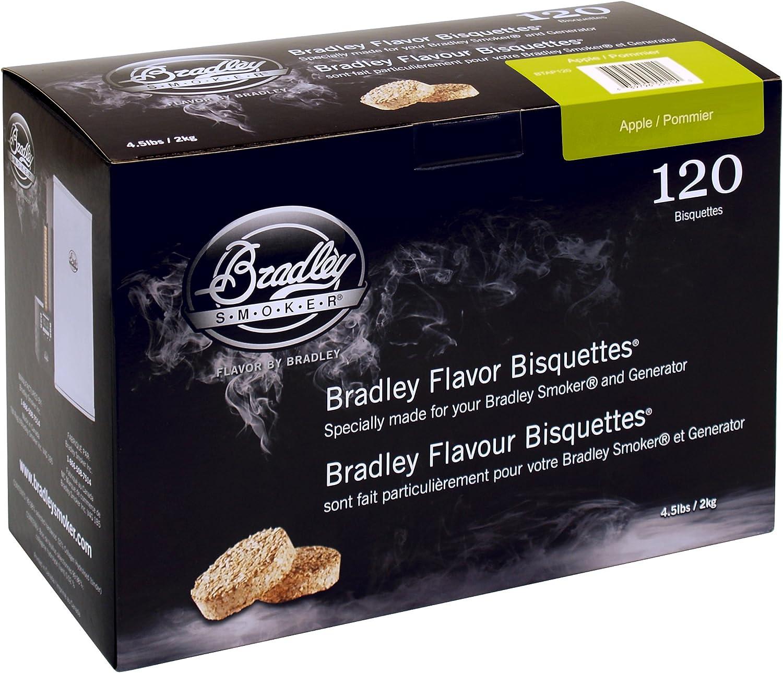 Bradley - Maderas de bisquettes para ahumador (Sabor a Manzana, 120 Unidades)