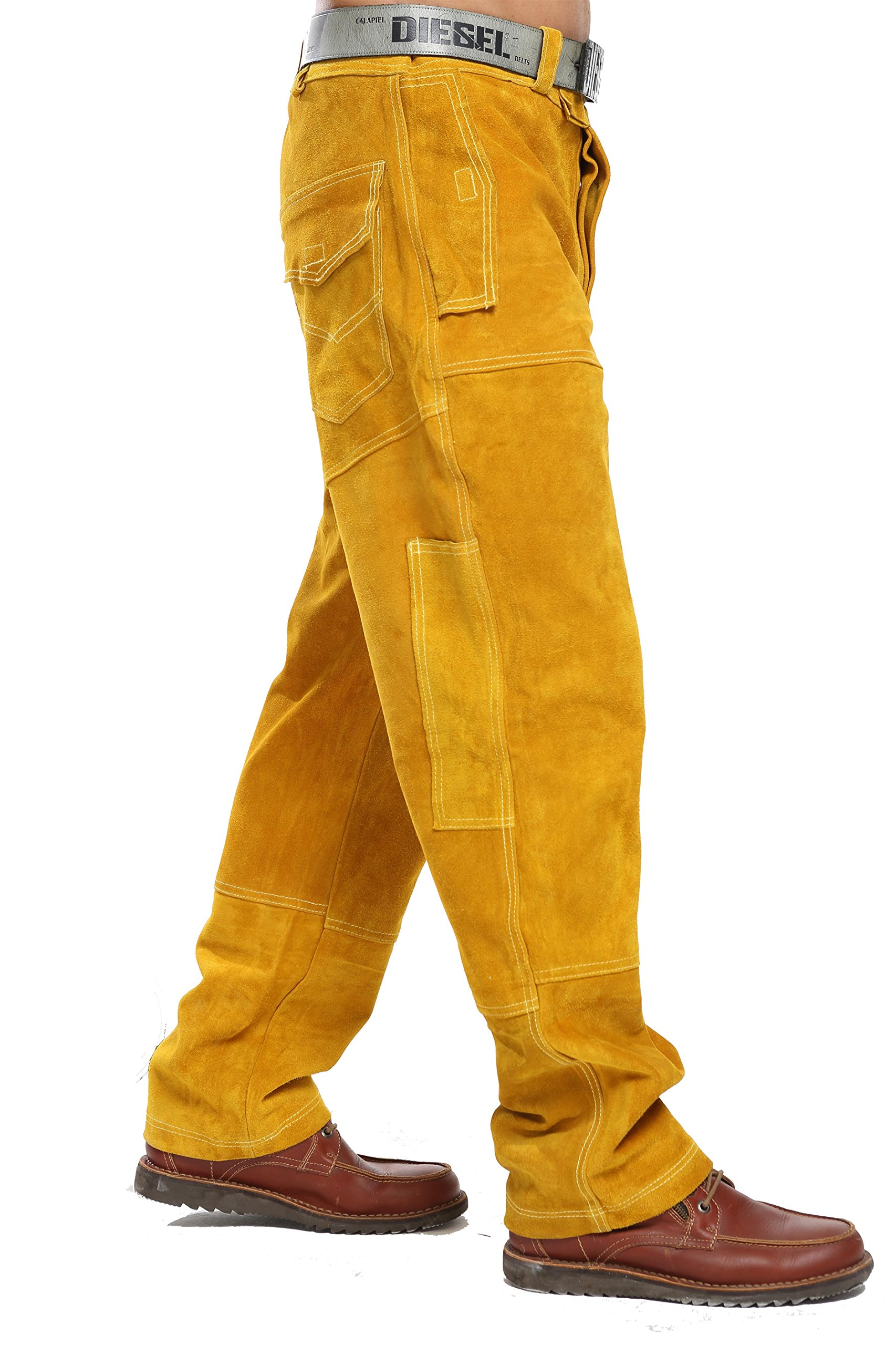 Welding protective pants | welding clothes | leather pants (L)
