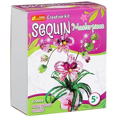 Ranok Ranok15160081a 15x 18x 8cm Chef-d' œuvre Orchidée Sequins kit