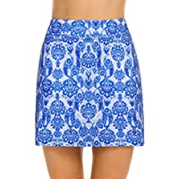 Aimado Women's Solid/Print Athletic Skirt Lightweight Skirt with Shorts for Running Tennis Workout(S,XXL)