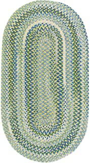 "product image for Capel Rugs Waterway Oval Braided Area Rug, 20"" x 30"", Yellow"