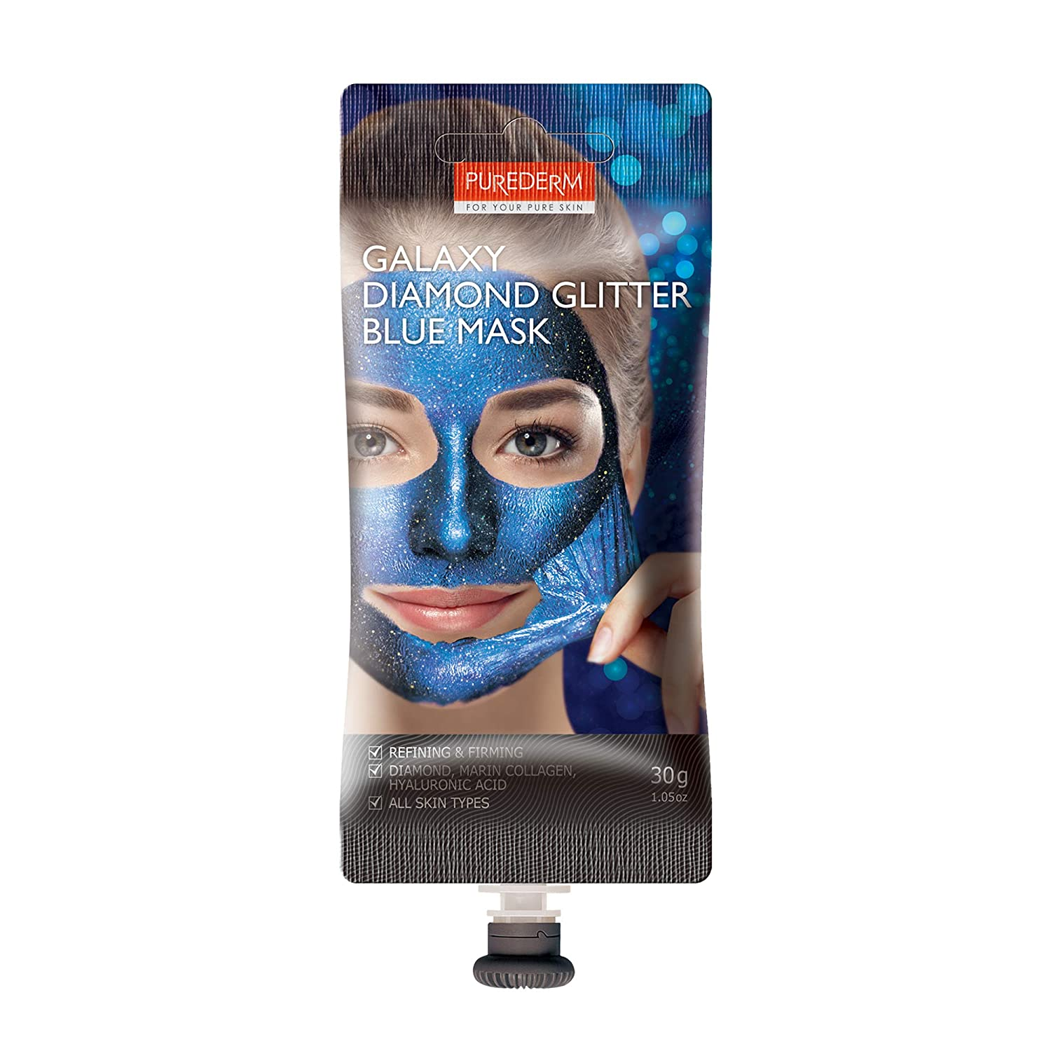 Amazon.com: PUREDERM Galaxy Black Peel-Off Mask 1.76oz / Korean beauty/Spout type/Peel off mask, Glitter mask, Peeling mask, Daily mask, Pore clean mask, ...
