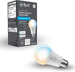 C by GE Tunable White Direct Connect Light Bulb (1 A19 Smart LED Bulbs), 60W Replacement, 1-Pack, Bluetooth Light Bulb, Wi-Fi Light Bulb, Smart Light Bulb Works With Alexa and Google Home without Hub