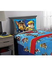 Nickelodeon Juego de sábanas, Blue/Red Design, 3 Piece Twin Size, 1