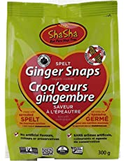 Shasha Co Organic Spelt Ginger Snap Cookie Bags, 300 grams