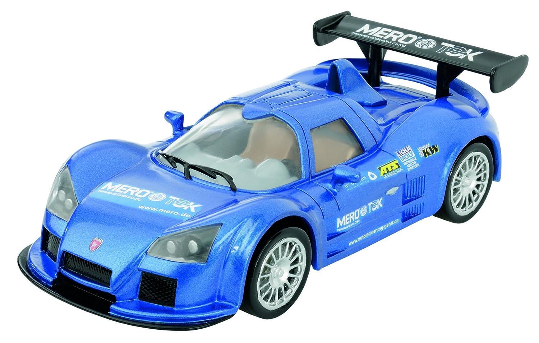 Cartronic Modell-Auto Apollo Gumpert in Blau, Maßstab 1:24; originalgetreues Fahrzeug für Auto-Rennbahnen