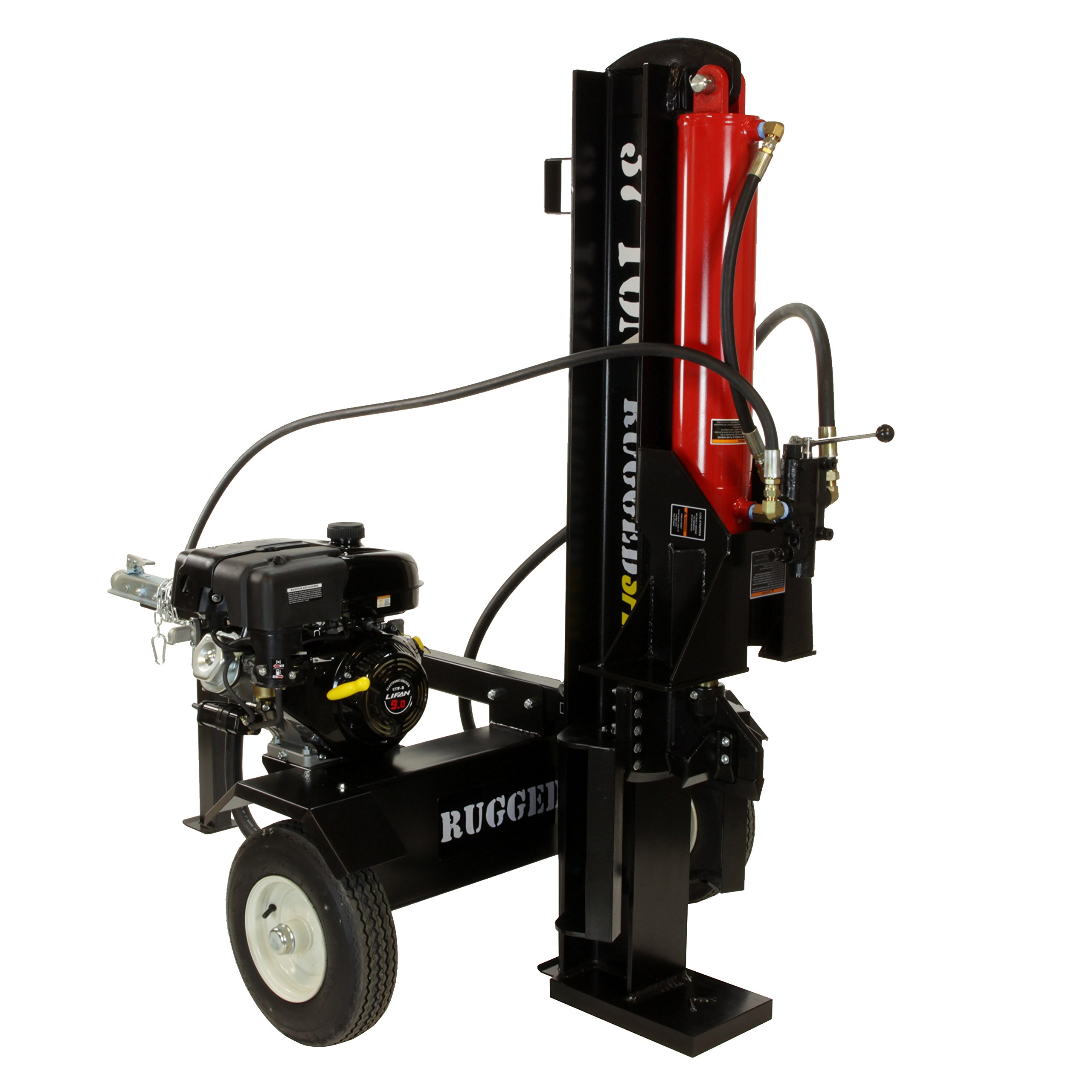 37-Ton Horizontal/Vertical Gas Log Splitter, 301CC Electric Start