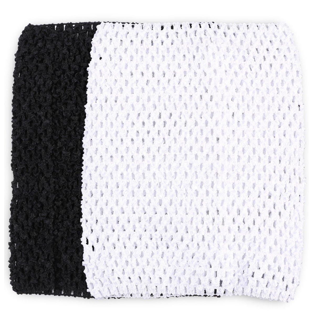 Tube top - SODIAL(R)Tube top for girl child tutu dress hook material 9 black white SODIAL (R) 038868