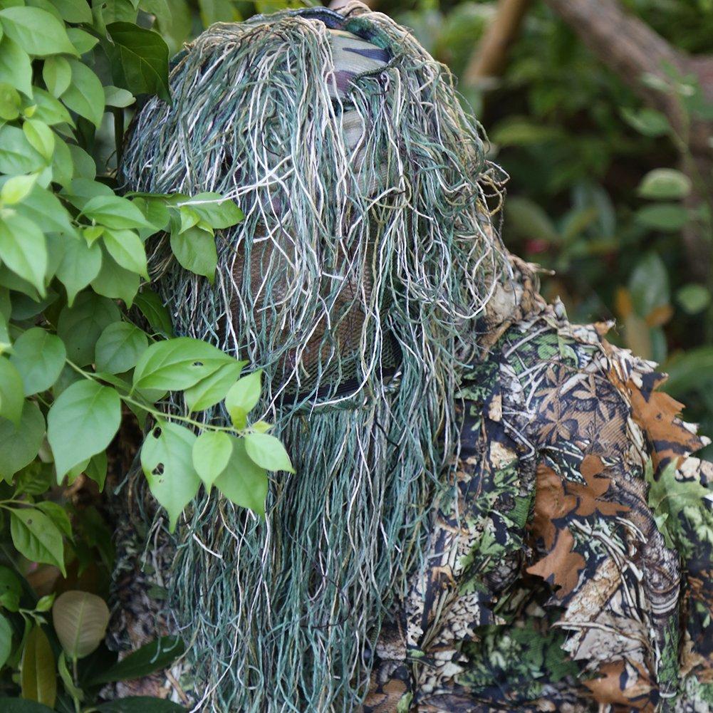 3D Waldlandschaft Tarnunghut Camouflage M/ütze f/ür Outdoor Tarnung