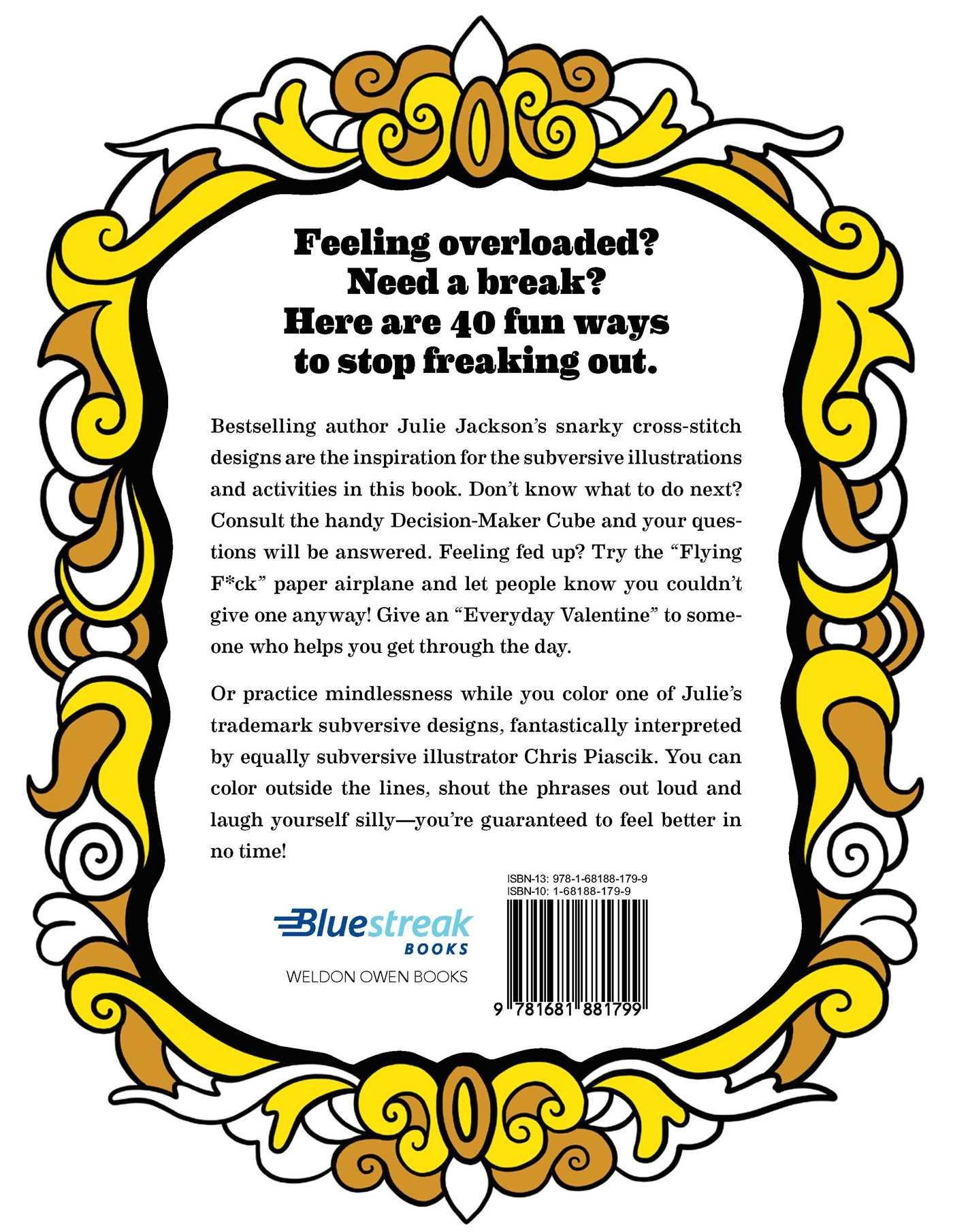 Subversive Cross Stitch Coloring And Activity Book 40 Ways To Stop Freaking Out Amazon De Jackson Julie Fremdsprachige Bucher