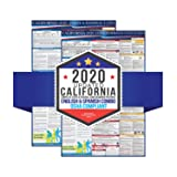 "2020 California State and Federal Labor Laws Poster 2 Pack English and Spanish - OSHA Workplace Compliant 24"" x 36"" - All in One Required Posting - Laminated"