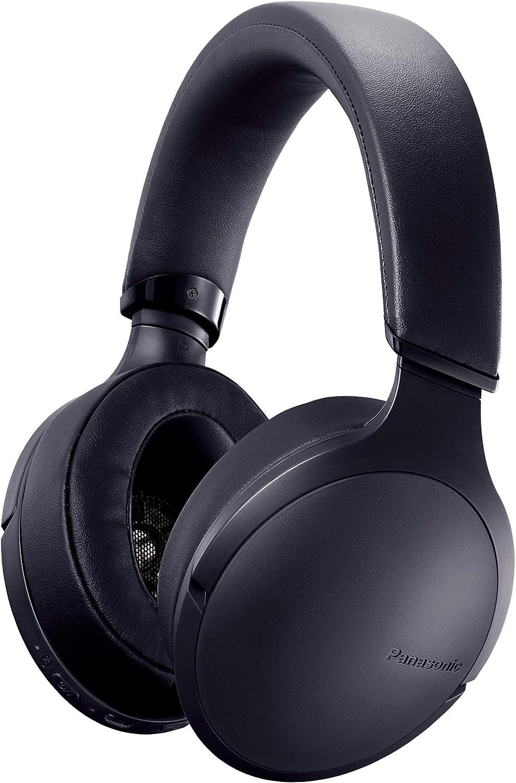 Panasonic RP-HD305BE-K - Auriculares con Bluetooth (duración de la batería de 24 Horas, Carga rápida, Control por Voz, Over-Ear), Color Negro