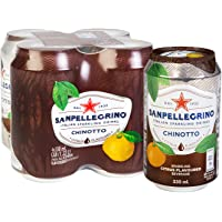 San Pellegrino Chinotto Can, 330ml, (Pack of 4)