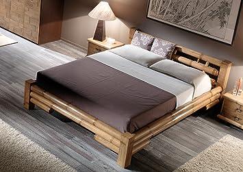 Mobel Bressmer Hochwertiges Bambus Bett 140x200 Tabanan Bambusbett