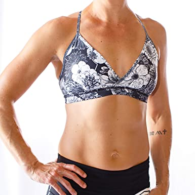 5234732d63787 The Uncaged Bra (Monochromatic Floral) at Amazon Women s Clothing store