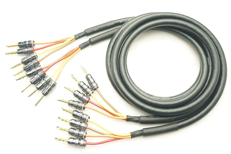低価格で大人気の MOGAMI 24K金メッキ 2921 MOGAMI バイワイヤリング対応 2本ペア 24K金メッキ ベリリウム銅製 バナナプラグ付 スピーカーケーブル (4本-4本) (4本-4本) (1.5m) B07F9LV4D5 3m, バイクCITY:276f0d9d --- specialcharacter.co
