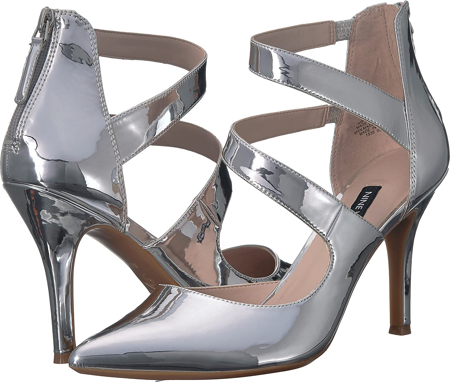 Nine West Women's Florent Pump B07D3TFW4Z 11 B(M) US|Silver Synthetic