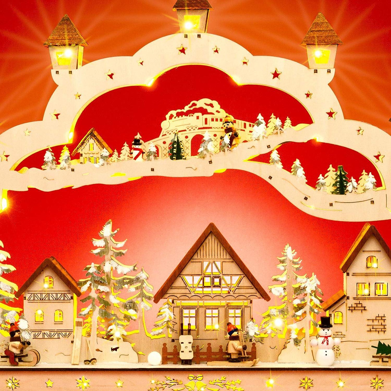 Sikora LB80 wundervoller XXXL Holz LED Schwibbogen Weihnachtsdorf Länge 78cm 78cm 78cm B07H1X7KH9 Weihnachten 7c9416