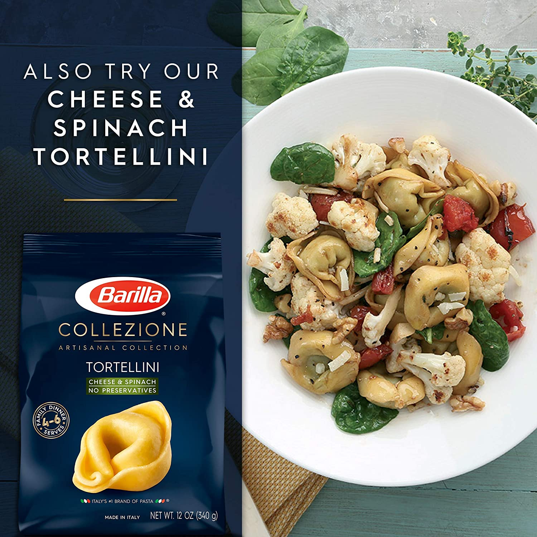 Barilla Collezione Pasta Three Cheese Tortellini 12 Ounce Pack Of 4 By Barilla Amazon De Grocery