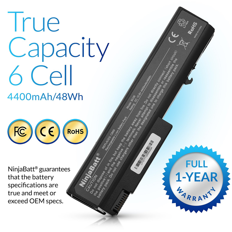 NinjaBatt Batería para HP EliteBook 6930P 8440P 8440W ProBook 6440B 6445B 6450B 6455B 6540B 6545B 6550B 6555B Compaq 6730B 6530B 6535B 6735B ...