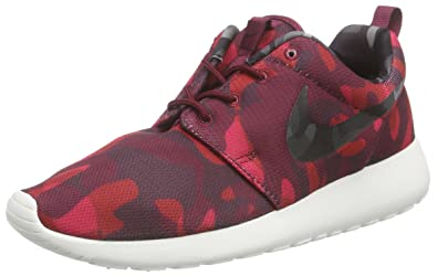 Nike Women's Roshe One Print Dp Garnet/Blk/Gym Red/Vry Brry Running