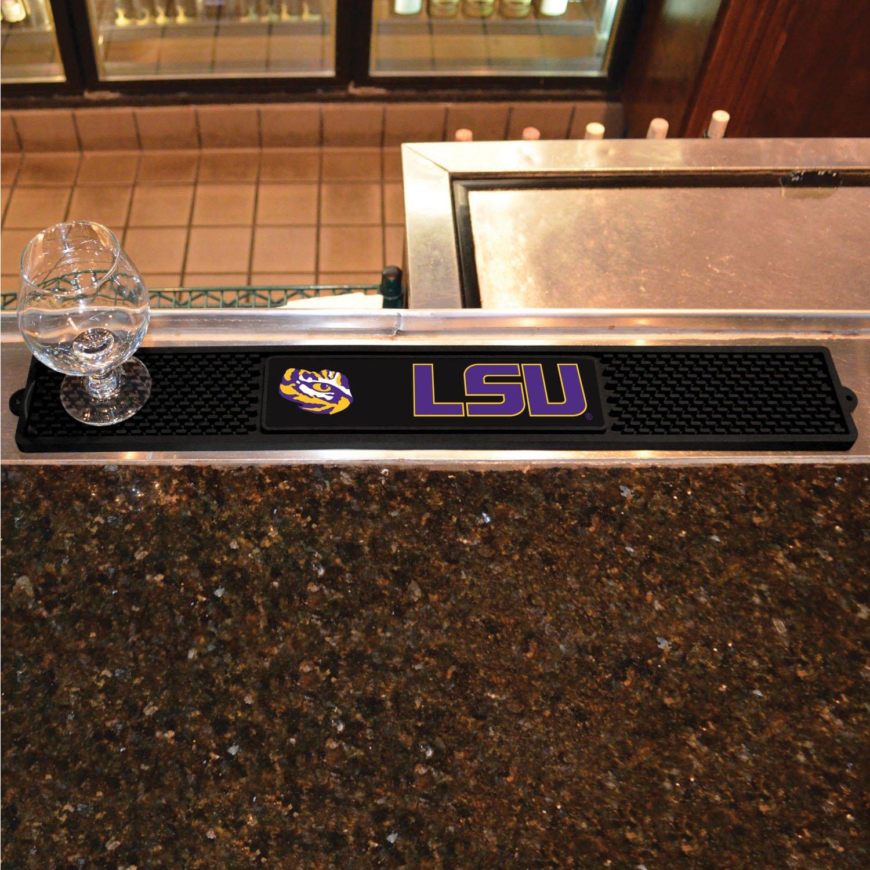 Fanmats Home Restaurant Bar Hotel Decorative Accessories Logo Printed Louisiana State University Drink Mat 3.25X24