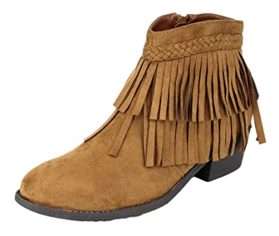 42a12a31ddb0 Amazon.com: Refresh Women's Tildon-05 Suede Fringe Western Cowgirl Boho Ankle  Boot: Shoes