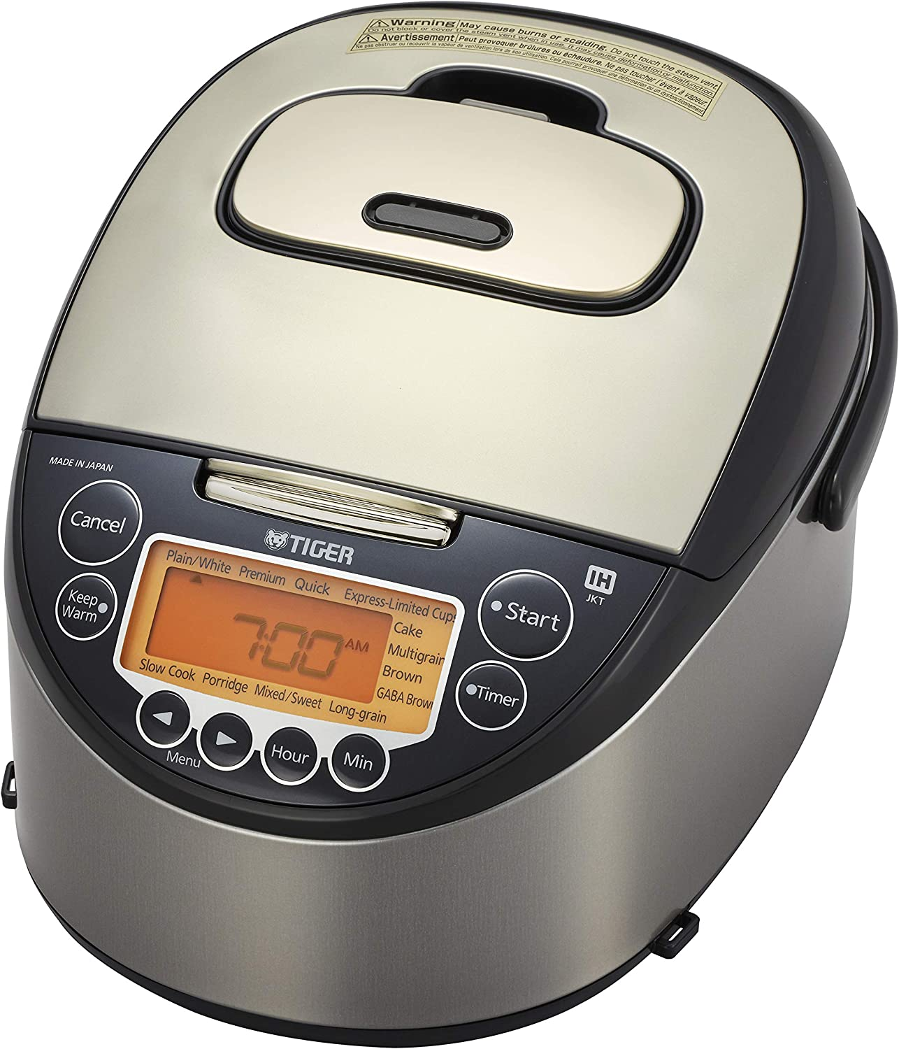 Tiger Corporation Tiger JKT-D10U 5.5-Cup (Uncooked) IH Rice Cooker, black & stainless steel