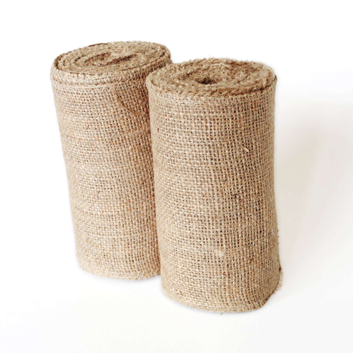 Craft Burlap Ribbon No Fray Edges 6 Inches by 10 Yards 2 Pack Wreath Ribbon