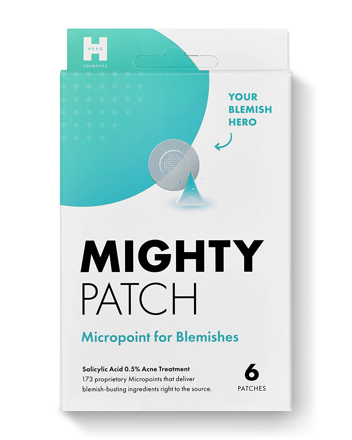 Mighty Patch Micropoint for Blemishes - Hydrocolloid Acne Spot Treatment for Early Stage and Deep Hidden Pimples (6 Patches)