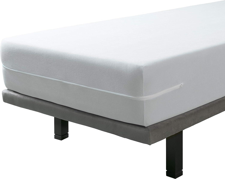 SAVEL, Funda colchón Rizo Microfibra, elástica y Ajustable, 150x190/200 (para Camas de 150)
