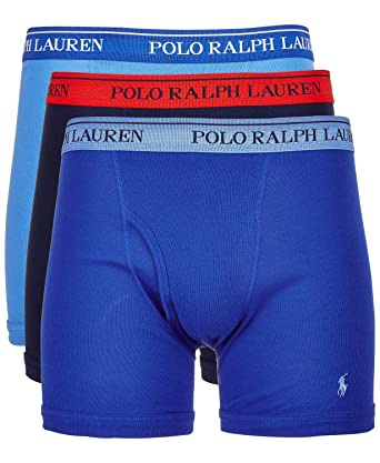 63054ca2c1e3 Polo Ralph Lauren Men's Classic Fit w/Wicking 3-Pack Boxer Briefs Aerial  Blue