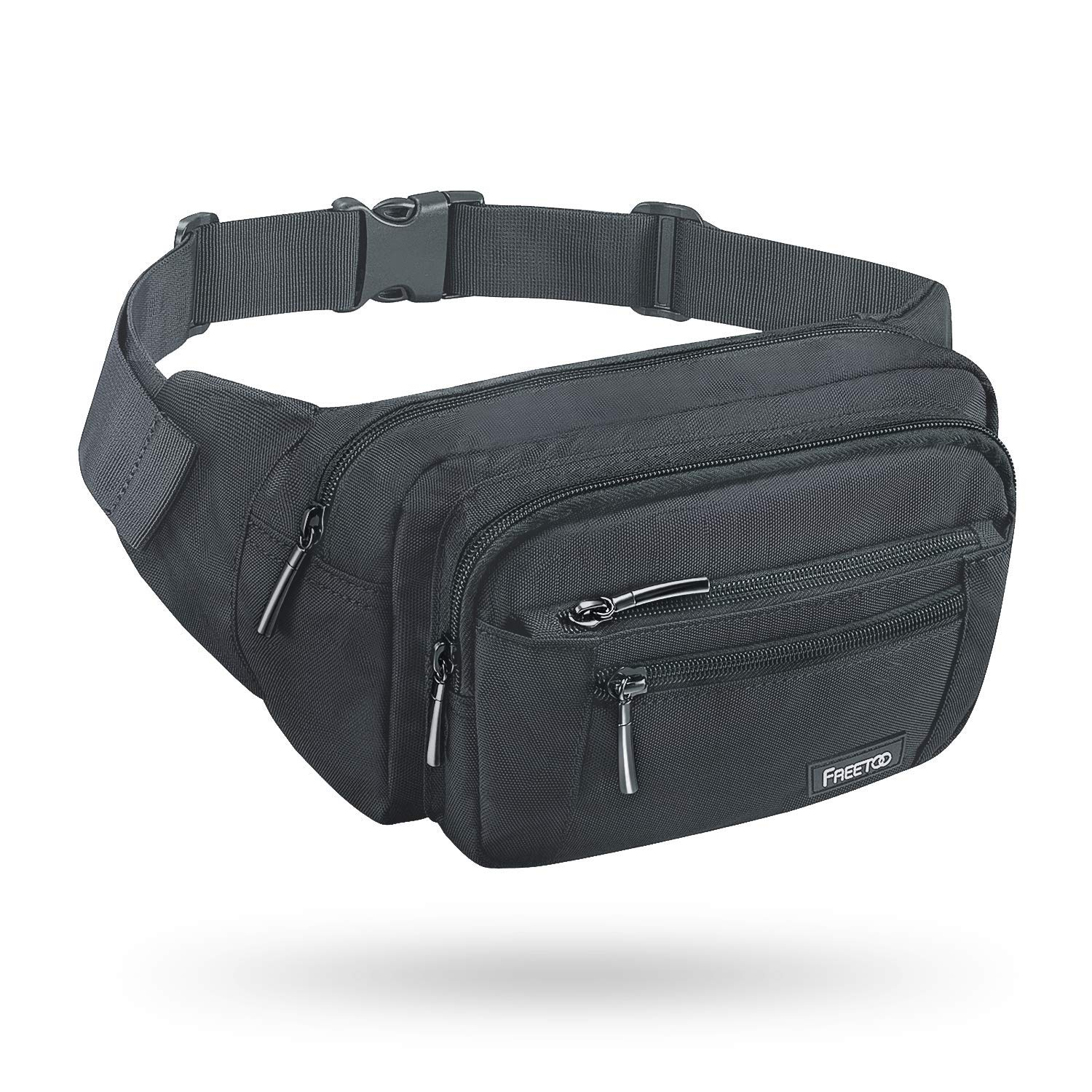 FREETOO Waist Pack Bag Fanny Pack for Men&Women Hip Bum Bag with Adjustable Strap for Outdoors Workout Traveling Casual Running Hiking Cycling (Gray) by FREETOO