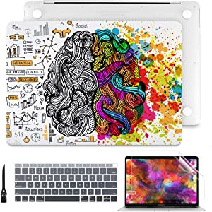 """Batianda Laptop Case for MacBook Pro 13"""" 2019 2018 2017 2016 with Match Color Keyboard Cover + Screen Protector Bundle (Model:A2159 A1989 A1706 A1708, W/Without Touch Bar), Innovative Brain"""