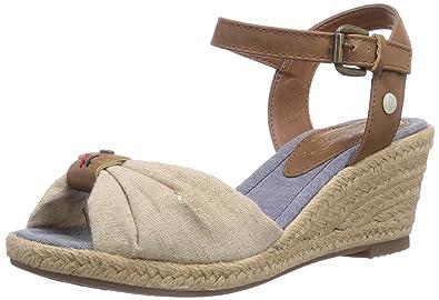 Damen Durchgängies Plateau Sandalen mit Keilabsatz Schuhe