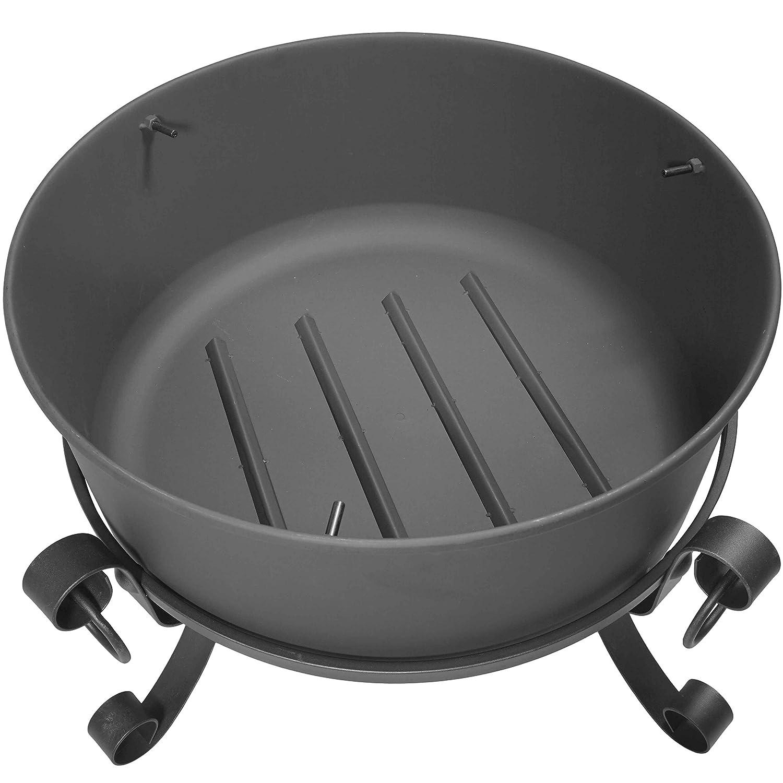 amazon com titan 24 inch large steel cauldron fire pit with spark