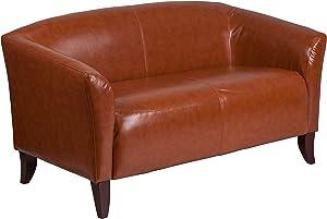 Flash Furniture HERCULES Imperial Series Cognac LeatherSoft Loveseat