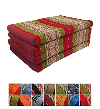 Collumino® Colchón Plegable para Yoga de ceiba Tradicional tailandés Masaje relajación o - Extra Largo tamaño 200 x 80 cm: Amazon.es: Hogar